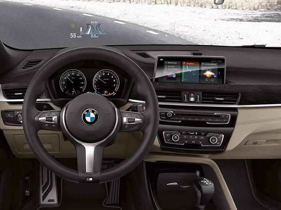 2018 BMW X2 Interior Dashboard and Steering Wheel