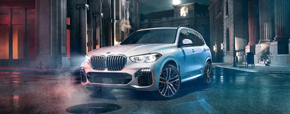 2019 BMW X5 Exterior White on City Streets