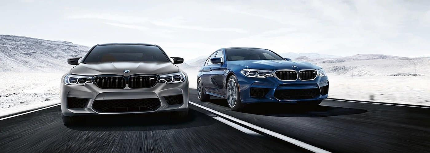bmw m models driving on highway