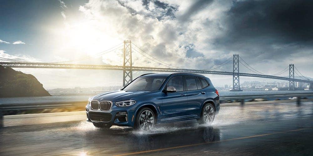 2019 BMW X3 on Rainy Highway