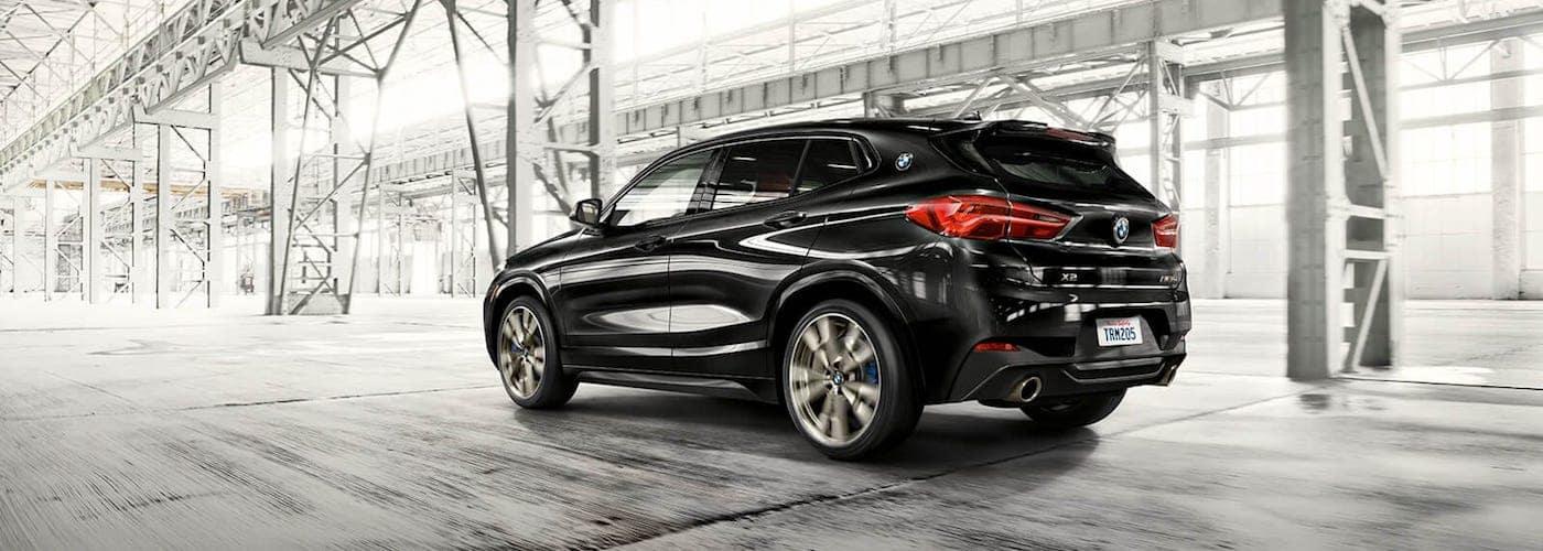 Black 2020 BMW X2 Driving