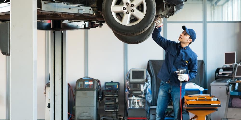 Mechanic Working at Shop