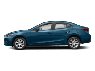 Image of a new blue Mazda 3 4-Door