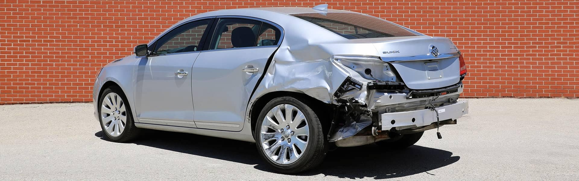 vehicle with collision damage