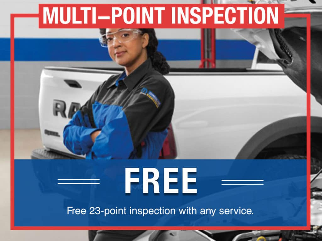 Free Multi-point Vehicle Inspection Coupon