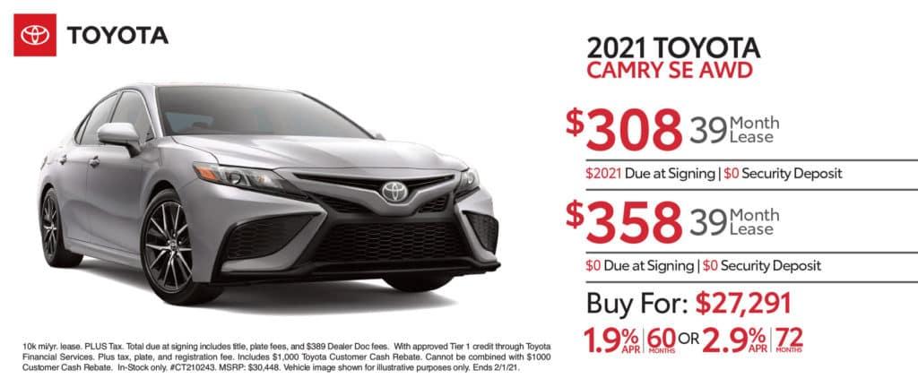 New 2021 Toyota Camry SE AWD
