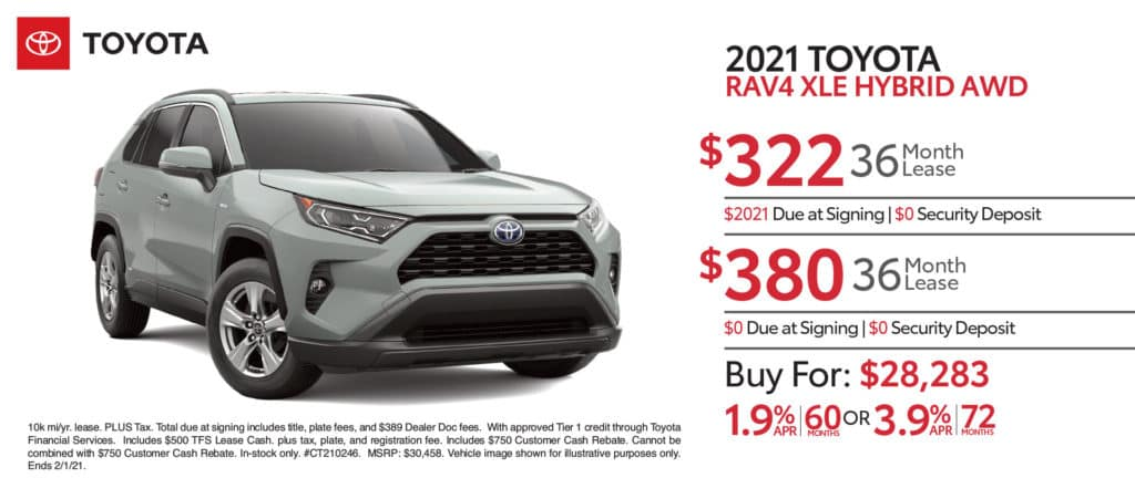 New 2021 Toyota Rav4 XLE Hybrid AWD
