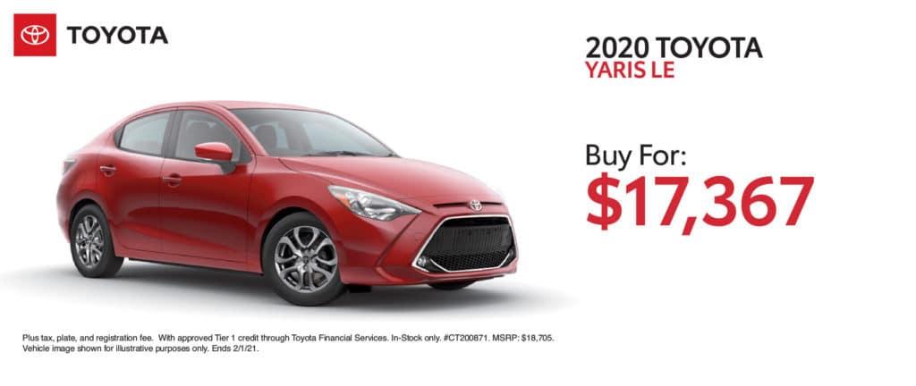 New 2020 Toyota Yaris LE