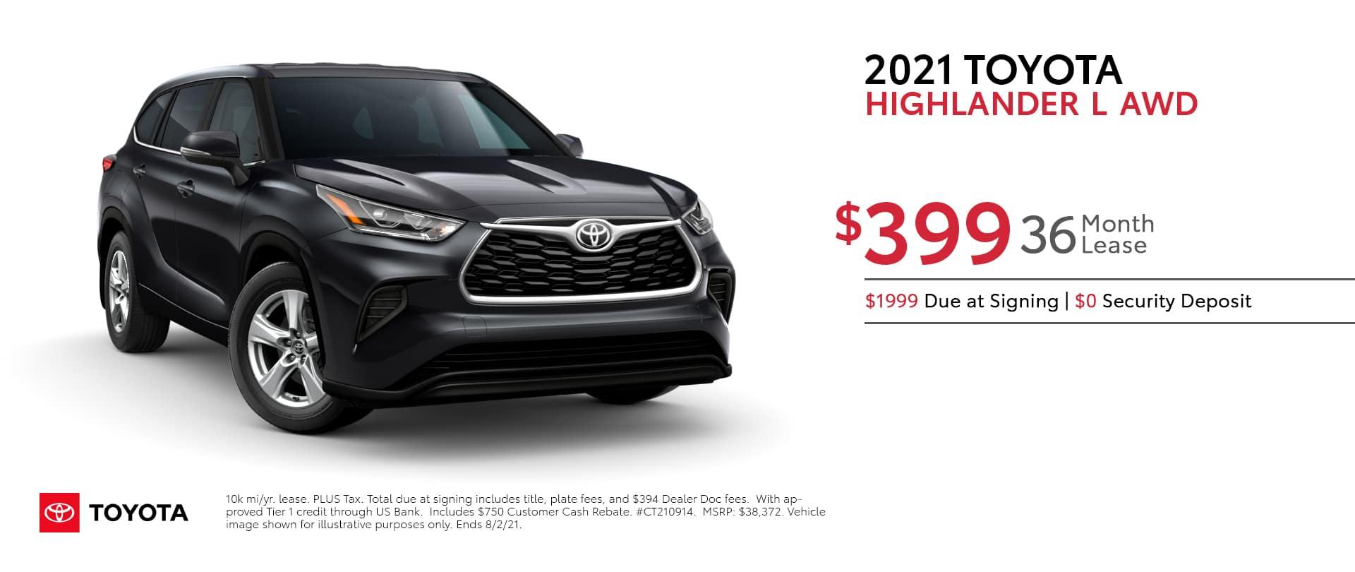 2021-Toyota-Highlander-L-AWD-Lease