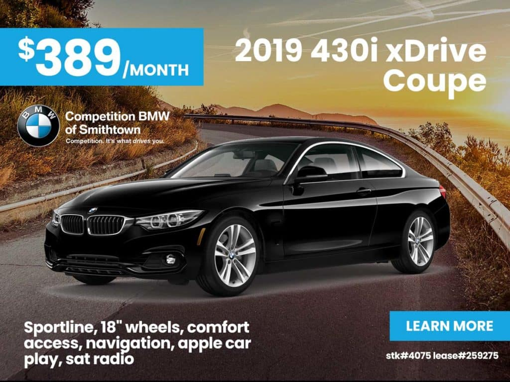 New 2019 BMW 4 Series 430i xDrive Coupe With Navigation & AWD