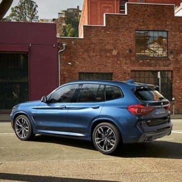 2019 BMW X3 blue exterior