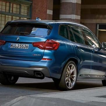 2019 BMW X3 rearview