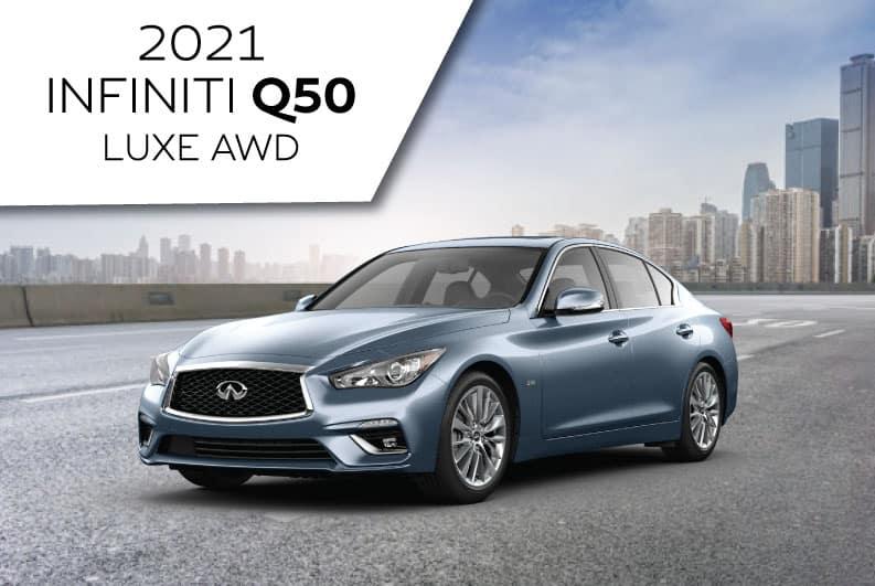 New 2021 INFINITI Q50 LUXE AWD