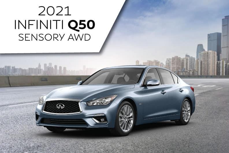 New 2021 INFINITI Q50 SENSORY AWD