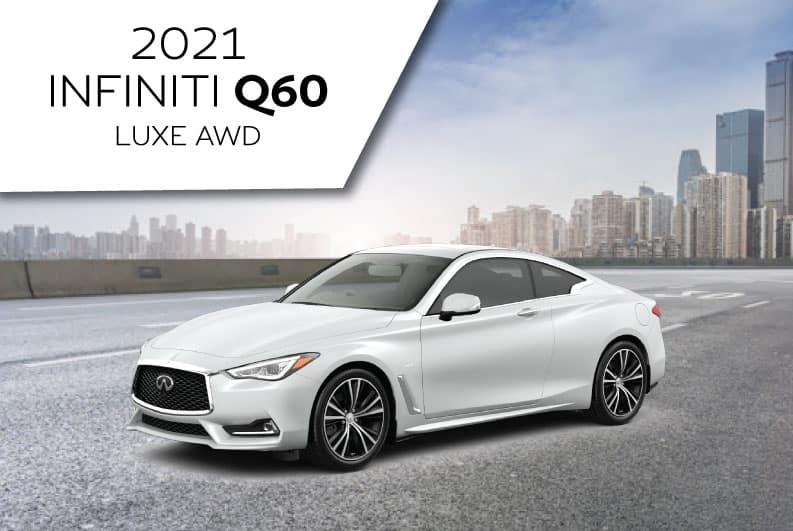 New 2021 INFINITI Q60 LUXE AWD