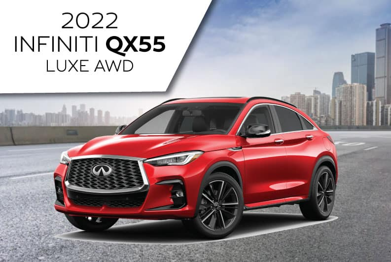 New 2022 INFINITI QX55 LUXE