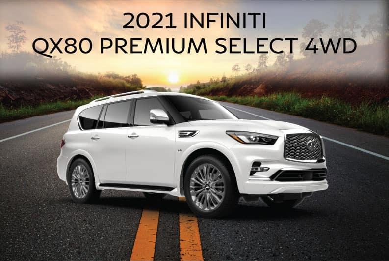 New 2021 INFINITI QX80 PREMIUM SELECT 4WD