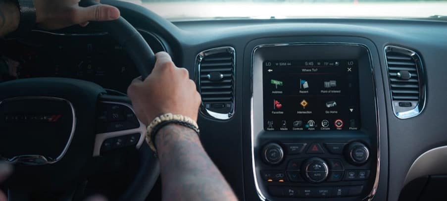 Driver controls in the 2018 Dodge Durango