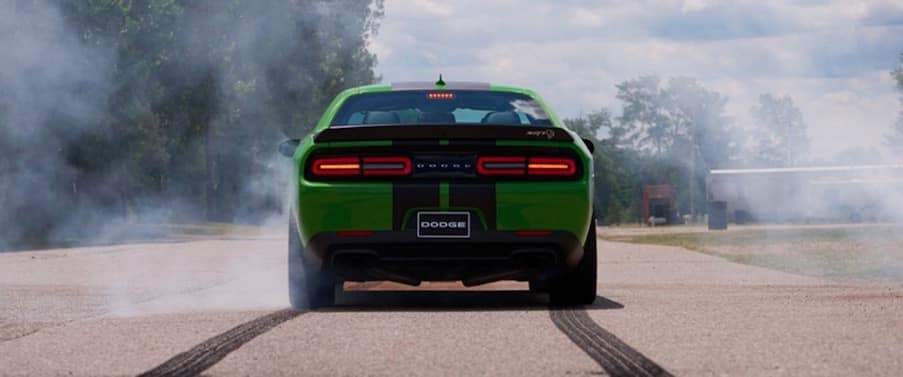 Dodge Challenger on the track