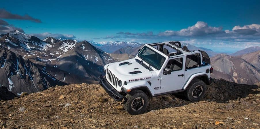 New Jeep Wrangler off-road