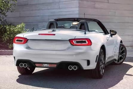 Exterior of the 2018 FIAT 124 Spider