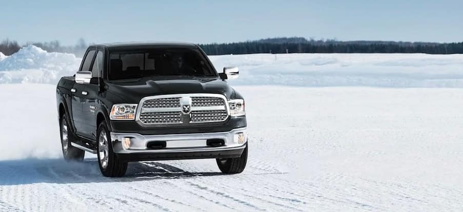 2019 RAM 1500 Classic in the snow