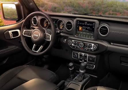 Cabin of the 2019 Jeep Wrangler
