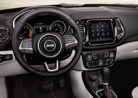 Cabin of the 2019 Jeep Compass