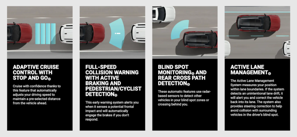 Standard safety features in the 2021 Jeep Grand Cherokee L.