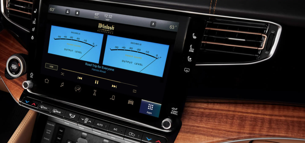 The McIntosh® Premium audio system in the 2022 Jeep Grand Wagoneer.