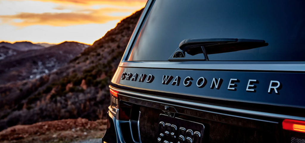 The back end of the 2022 Jeep Grand Wagoneer.