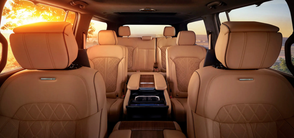 The various three rows of the 2022 Jeep Grand Wagoneer.