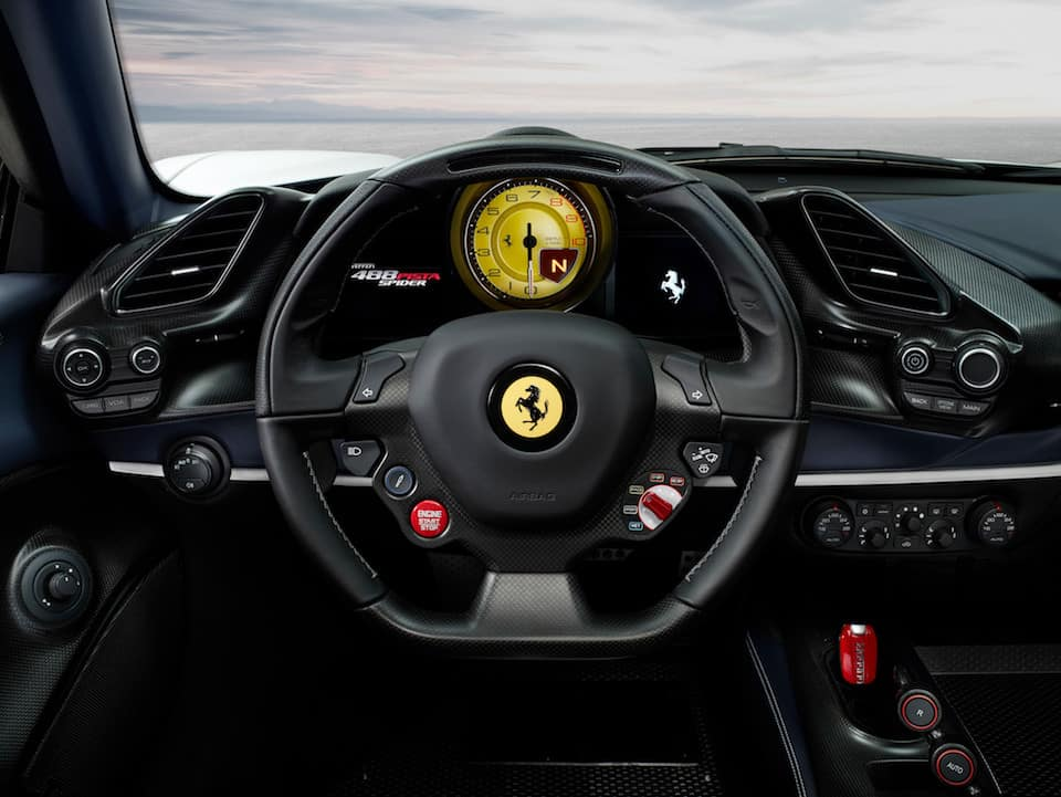 488 Pista Spider steering wheel