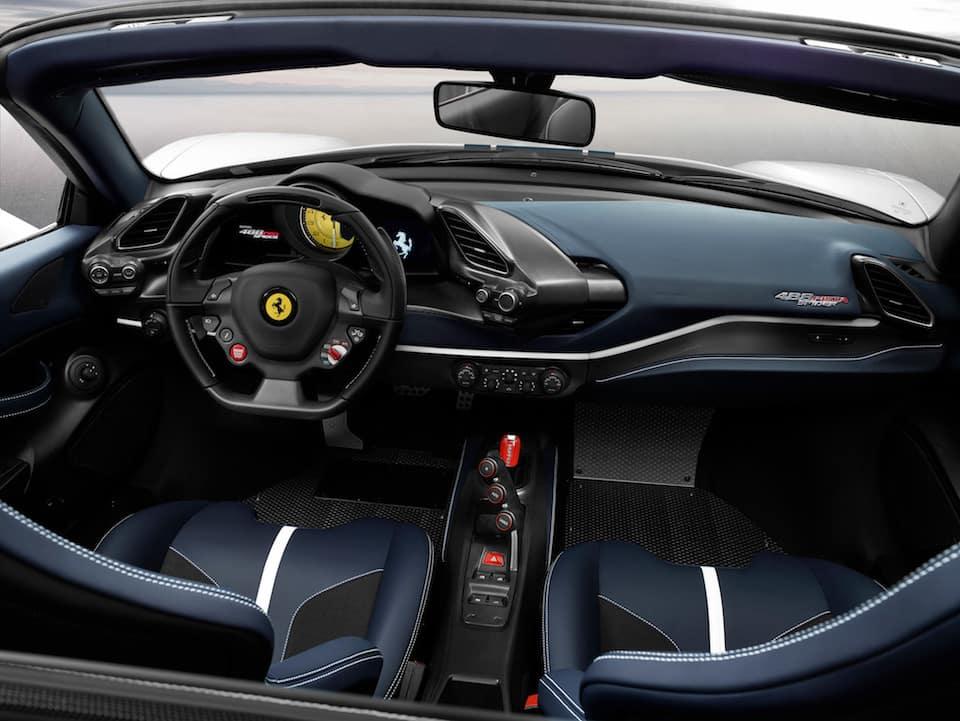 488 Pista Spider cockpit