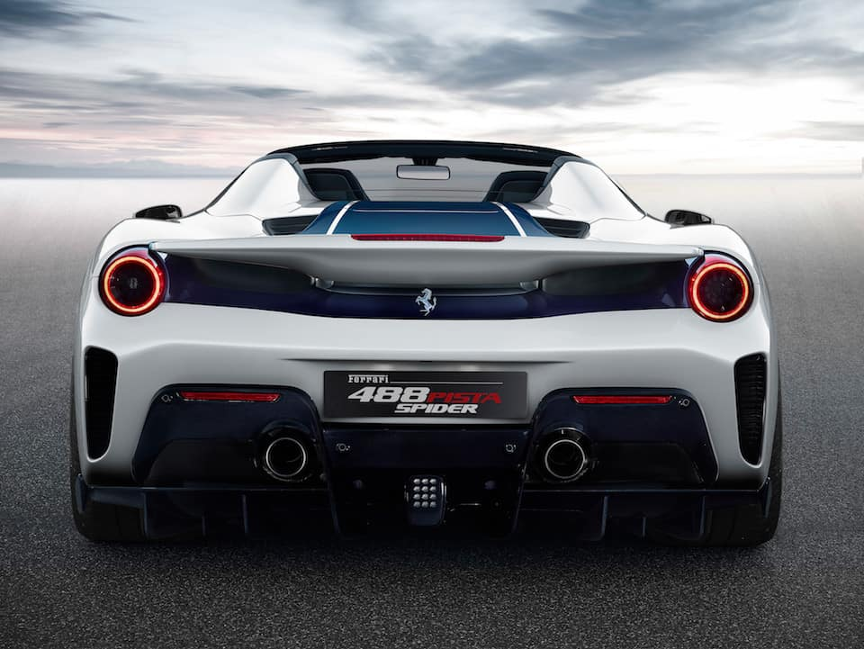 488 Pista Spider rear end