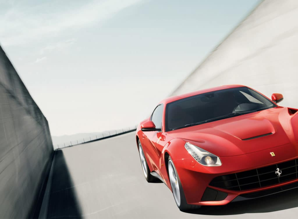Ferrari F12berlinetta on the track