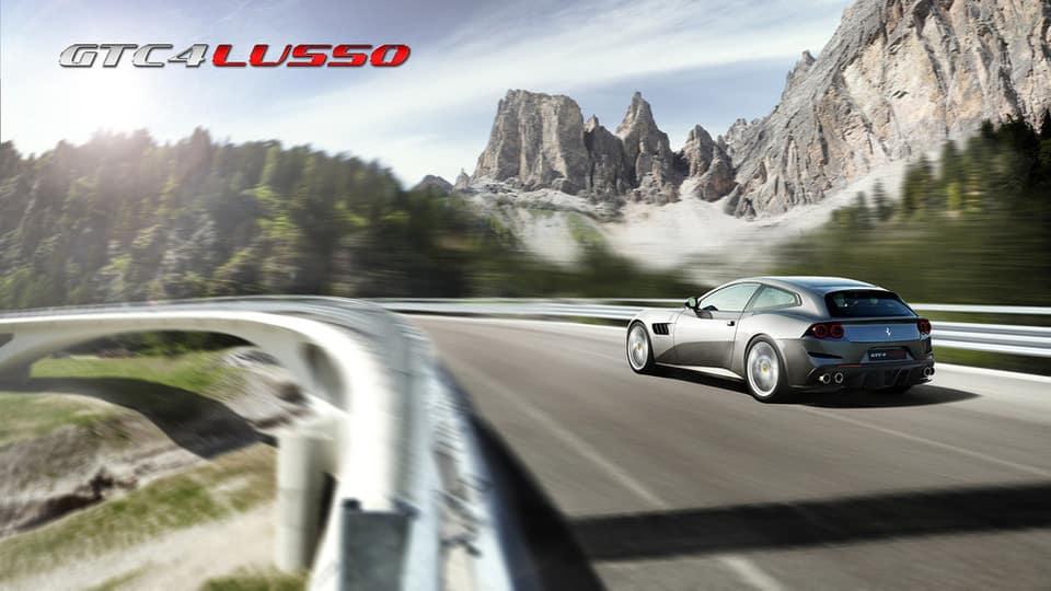 Ferrari GTC4Lusso Silver Driving