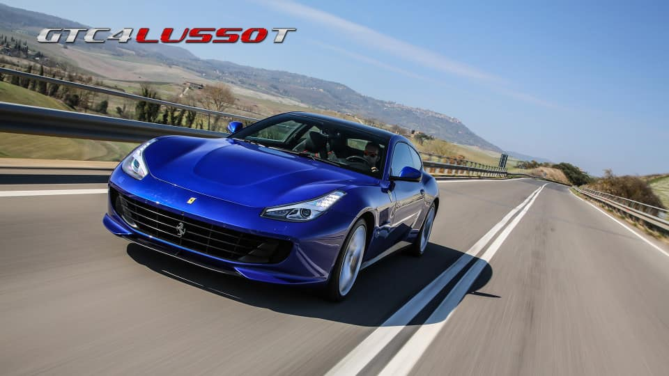 Ferrari GTC4Lusso T on the road
