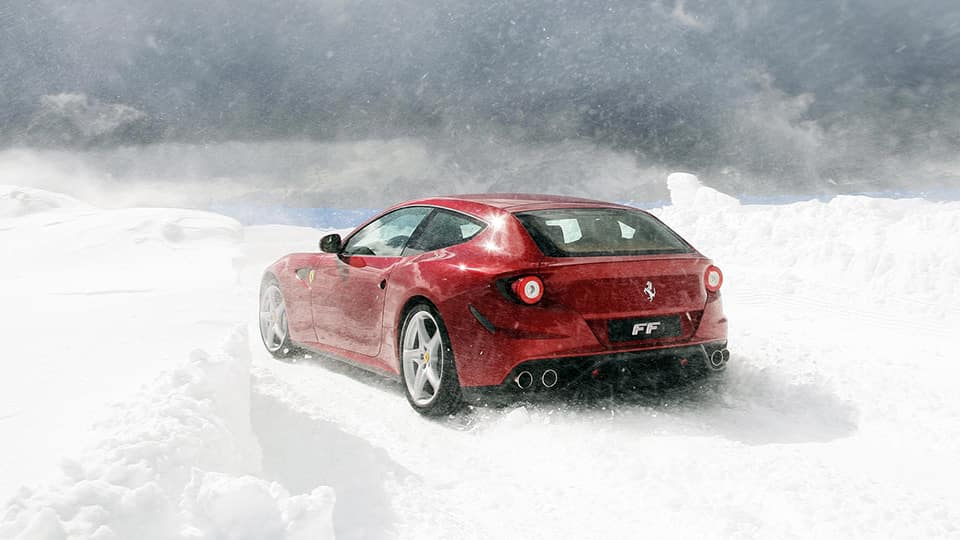 Ferrari FF in the snow
