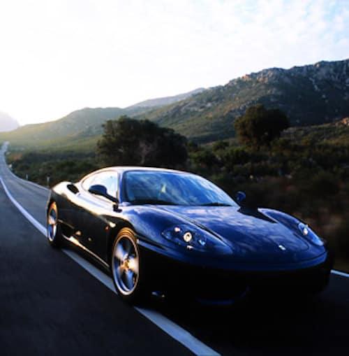 Ferrari 360 Modena on the road