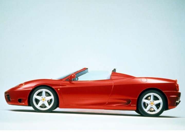 Ferrari 360 Spider in profile