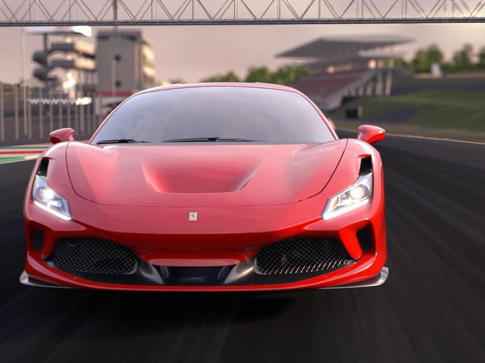 Ferrari F8 Tributo on the Track