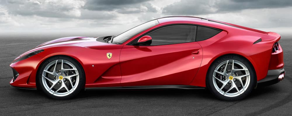 Ferrari 812 Superfast in profile