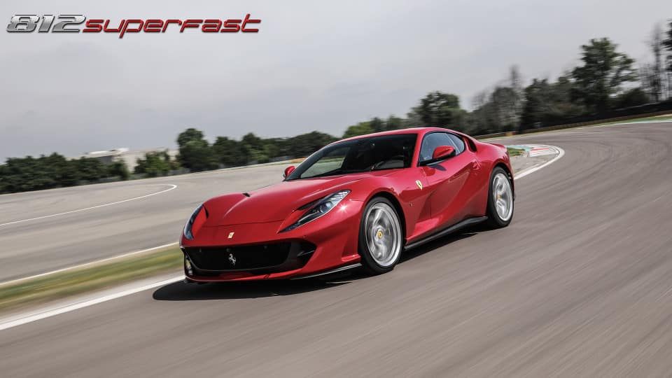 Ferrari 812 Superfast on the track