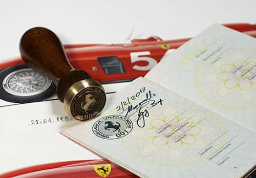 Ferrari Classiche certificate of authenticity
