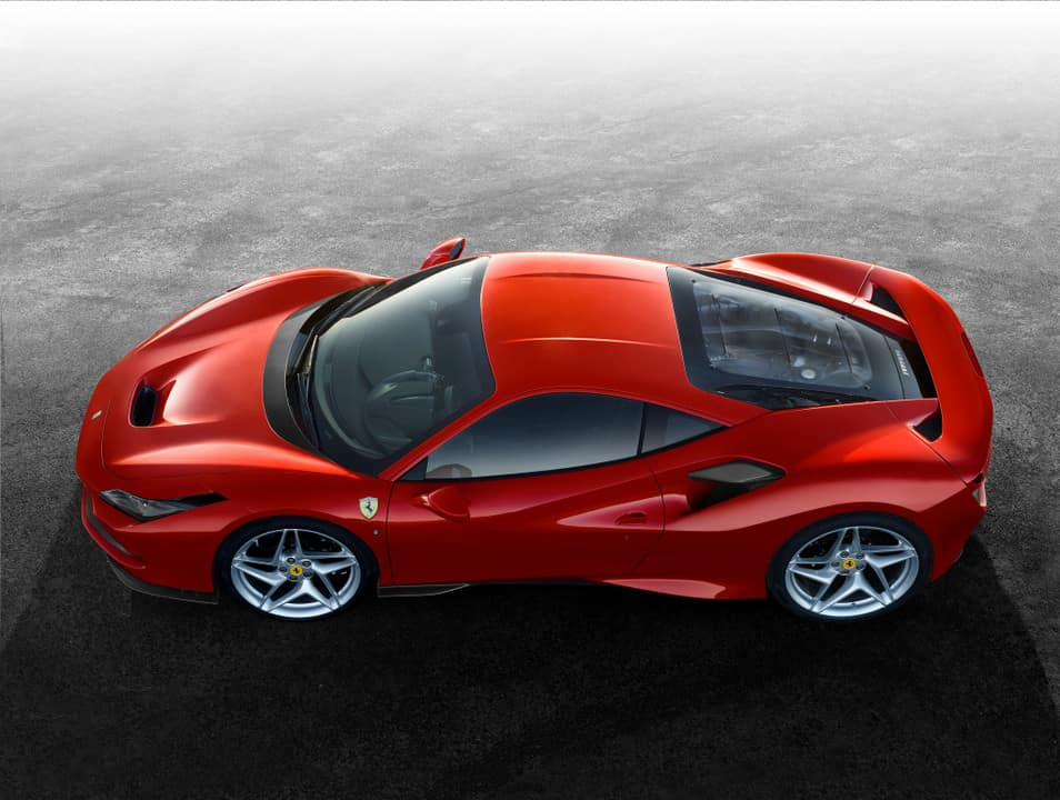 Ferrari F8 Tributo from above