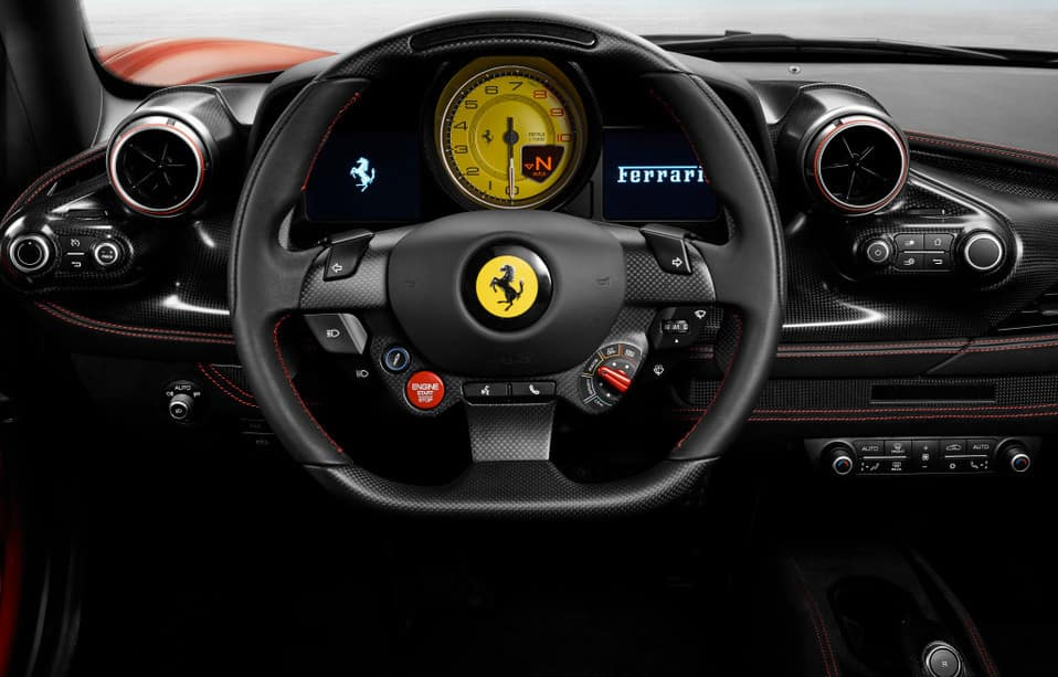 Ferrari F8 Tributo steering wheel