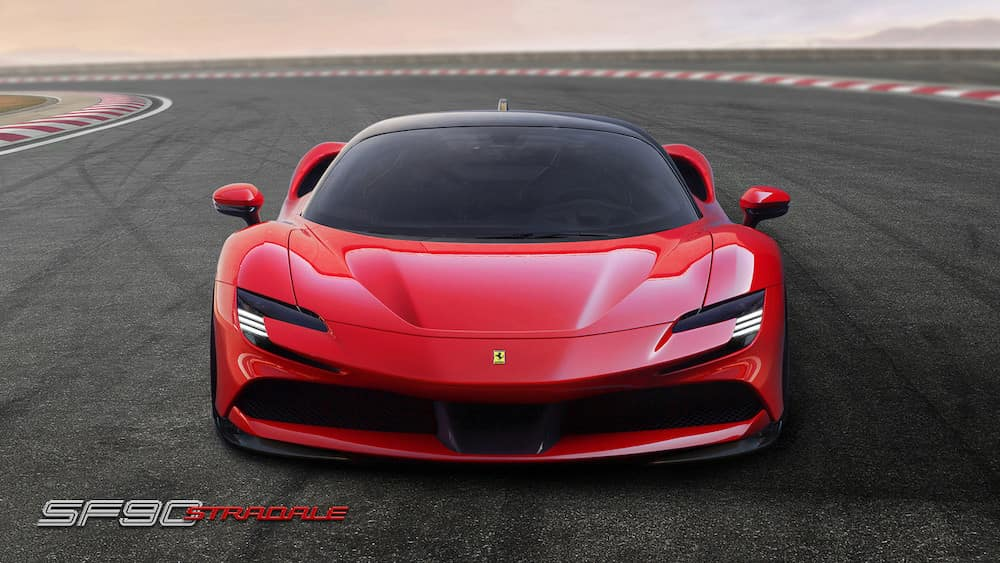 Ferrari SF90 Stradale from the front