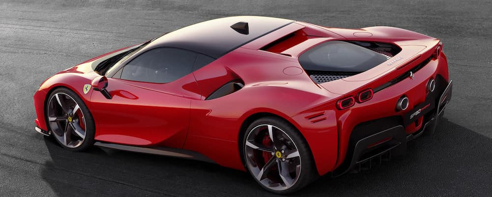 Ferrari SF90 Stradale on the track