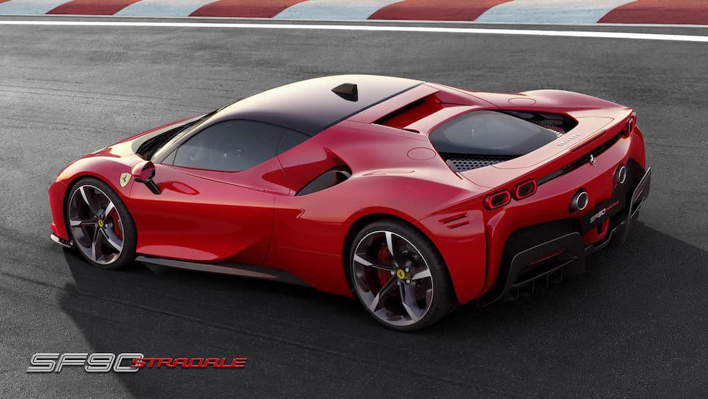 SF90 Stradale on the track